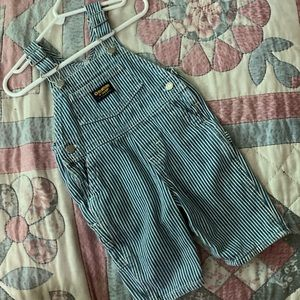 OshKosh B'gosh Bottoms - OshKosh B'gosh Stripe Denim Overalls. Boy Sz 3-6m